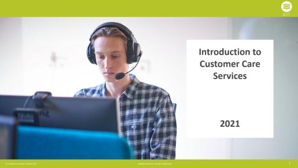 customer care services presentation banner cover