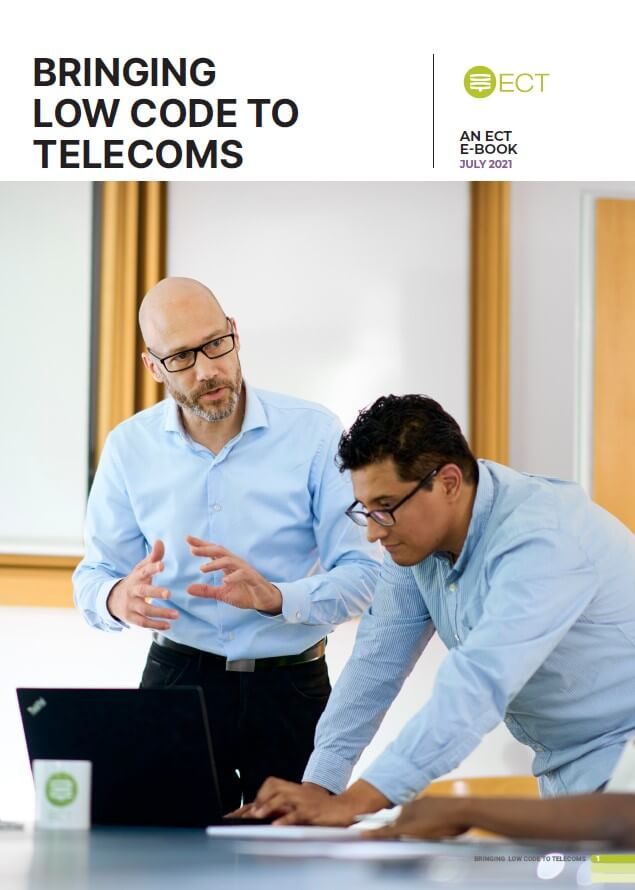 ebook cover bringing low code to telecoms
