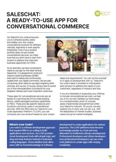 saleschat handout cover